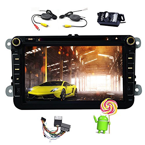 EinCar Android 5.1 Quad Core Car DVD CD Player Special for Volkswagen in dash VW GPS Navigation Radio Stereo with 8 inch 800480 Capacitive Multi-Touch Screen Mirror link/3G/4G/WIFI/Wireless Camera (2013 Jetta Bluetooth Module compare prices)