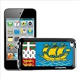 Fancy A Snuggle Coque arriere rigide pour Apple iPod touch 4eme generation Motif drapeau de Saint Pierre et Miquelon