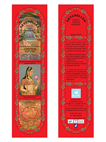 Hand-Rolled Incense Sticks- Pure Rose Traditional Relaxation Pack Of 3 (36 Sticks)