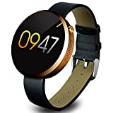 Lemfo Dm360 Bluetooth Smart Watch Smartwatch Heart Rate Monitor Pedometer Phone Mate Gesture Control for Android Ios (Gold)