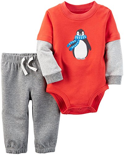 Carter's Baby Boys Bodysuit Pant Sets 121g843, Heather, 18M