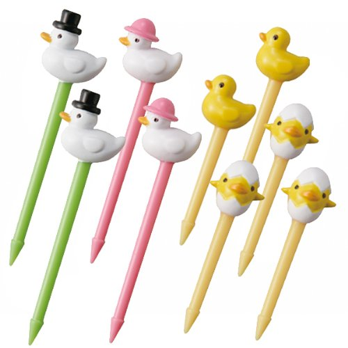 CuteZCute Bento 3D Food Pick, 10-Piece, Duck Family (Baby Food Picks compare prices)