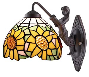 Amora Lighting Amora Lighting AM1074WL08 Tiffany Style Sunflower ...
