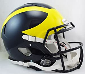 NCAA Riddell Michigan Wolverines Speed Full-Size Authentic Helmet by Riddell