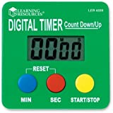 Learning Resources Digital Timer, Count Down/Up
