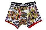 Kings and Jaxs Men's Pokerface Boxer Briefs (Multicolor, Large)