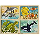Melissa & Doug 4-in-1 Sea Life Jigsaw Puzzle