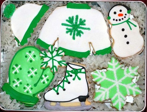 Winter Wonderland Hand Decorated Cookie Gift Tin