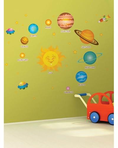 Ambiance Live Vinilo Adhesivo De El Sistema Solar Para Niños