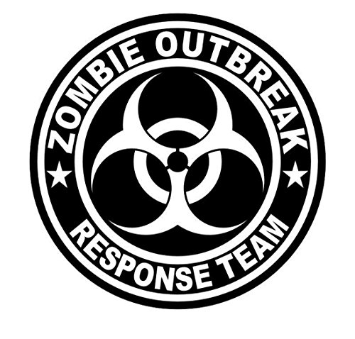 1-Pcs Heart-stopping Modern Zombie Outbreak Response Team Car Stickers Sign Safety Decals Self-Adhesive Vinyl Emblem Size 2