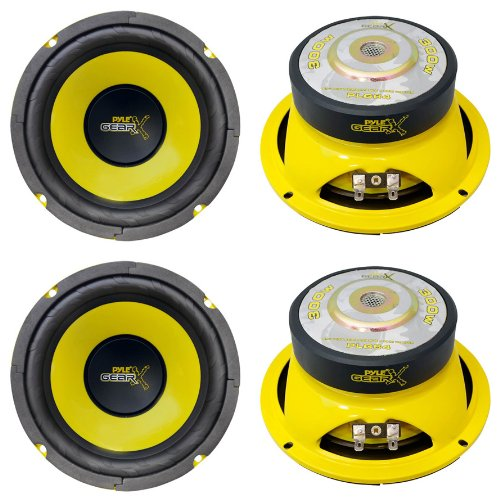 "4) Pyle Plg64 6.5"" 1200 Watt Car Mid Bass/Midrange Subwoofers Sub Power Speakers"