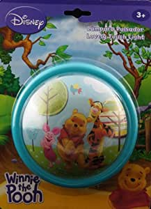 Disney Winnie the Pooh Wall Night Portable Bedroom Bedside Magic Push Light Lovely Touch Light (Character on Light : Winnie the Pooh Tigger Piglet ) [ Ideal for Wardrobe Corridor ]