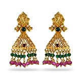 Joyalukkas Veda Collection 22K Oxidized Gold Earrings