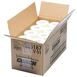Athletic Tape J&j Coach Sports Tape 2 Inch 24 case by Coach