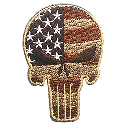 vanker-craneo-tipo-punisher-tactico-militar-patch-cinta-ejercito-insignia-del-brazal-rayas-marron