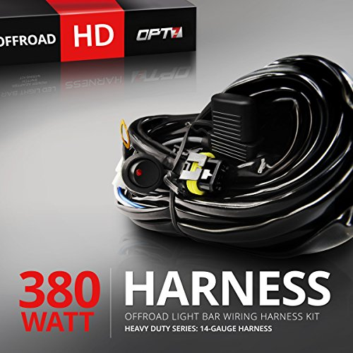 OPT7 Offroad Light Bar wiring Harness Kit (4 Items), 380W - Single Connector (Polaris Light Bar Wire Harness compare prices)