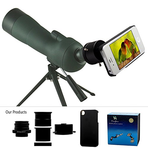 Ya Cellphone Eyepiece Adapter For Spotting Scopes/Telescopes/Microscopes Compatible With Iphone 4 4S [Images Fully Displaying On The Screen] [Focal Length Of 14Mm] [Visual Angle 75Degrees]
