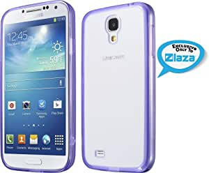 Laza Samsung Galaxy S4 Slim Jelly Hybrid Case with Clear Scratch-Resistant Polycarbonate Back and TPU Bumper- Purple