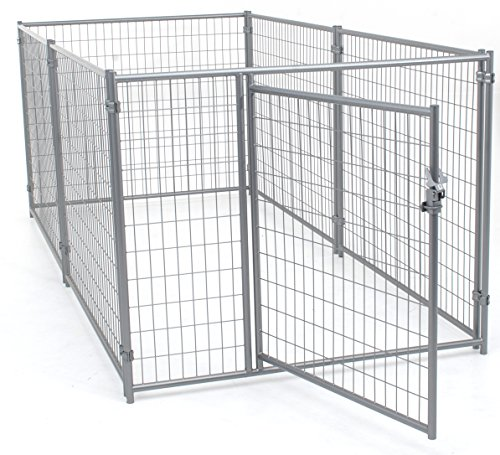 Dog Kennel Black- Lucky Dog Modular Box Kennel - This Welded Animal Enclosure is Perfect for Small to Medium Dogs and Animals and is Designed with Their Safety and Comfort In Mind. Dimensions (4'H x 10'L x 5'W); 110 lbs (Dog Modular Cage compare prices)