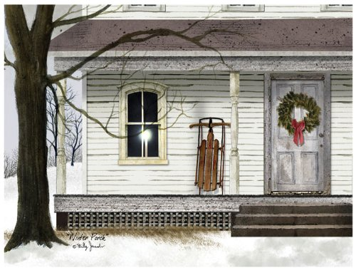 Ohio Wholesale Radiance Lighted Winter Porch Canvas Wall Art, From Our Snowmen Collection