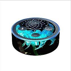 Skin Decal Vinyl Wrap for Amazon Echo Dot 2 (2nd generation) / Dream Catcher Dreamcatcher Blue Feathers