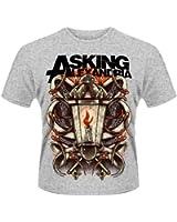 Asking Alexandria -Candle- men's light grey tee