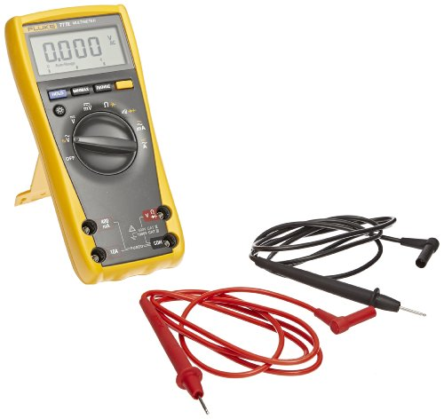 Fluke 77-4 Industrial Digital Multimeter With Large Lcd Display, 50 Megaohm Resistance, 1000V Ac/Dc Voltage, 10A Ac/Dc Current, 99.99 Khz Frequency