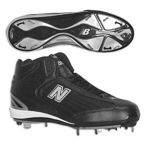 New Balance Men'S Mb1100Mk Men'S Baseball Cleats (11 (4E)Us, Black/Silver)