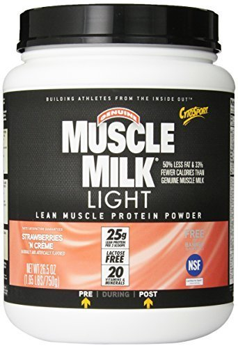 CytoSport Muscle Milk Light 750 g Strawberry Whey Protein Shake Powder by CytoSport
