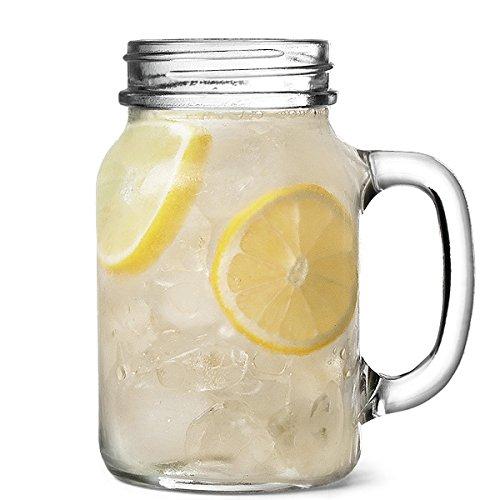 The Original Mason-Bicchiere da 1 pinta, Set da 4 barattoli in confezione regalo-Bicchieri per cocktail e frullati
