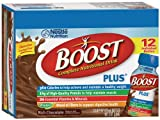 Boost Plus Chocolate Ready To Drink, 8 fl oz bottles, Pack of 12