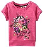 PUMA Little Girls Little Short Sleeve Star Graphic Sweatshirt