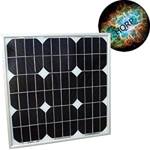 HQRP 20W Mono-crystalline Solar Panel 20 Watt 12 Volt in Anodized Aluminum Frame plus HQRP Coaster