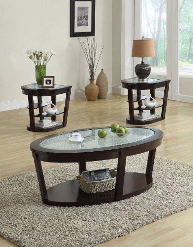 Cheap Acme 80015 Capri Cracle Glass Top Coffee Table, Espresso Finish (B0082A1C7U)