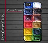 iPhone 5C (New Color Model) Rubber Silicone Case - Water Colors Paint tray iPhone 5 case