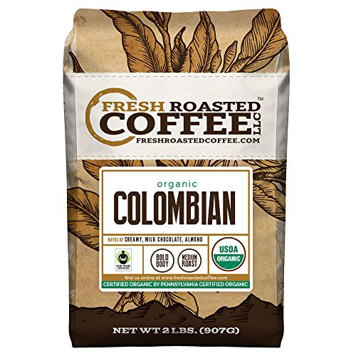 Colombian Organic Fair Trade Sierra Nevada, Whole Bean, Fresh Roasted Coffee LLC (2 lb.)