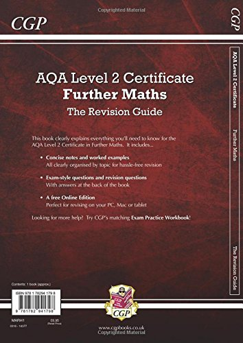 AQA Level 2 Certificate in Further Maths - Revision Guide (with Online Edition)