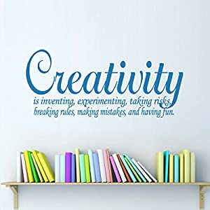 Amazon.com: Creativity Vinyl Wall Decal Definition Quote for Classroom