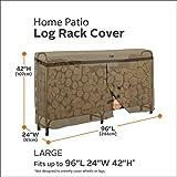 Classic Accessories 55-203-012401-EC Hickory Heavy Duty Log Rack Cover, 8-Feet