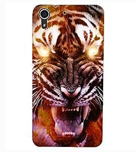 ColourCraft Roaring Tiger Design Back Case Cover for HTC DESIRE 626