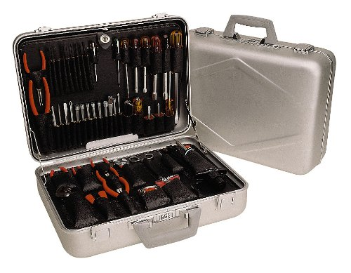 "Xcelite Tca150St Aluminum Attache Tool Case With Tools, 17-5/8"" Length X 12-5/8"" Width X 5-3/4"" Depth"