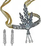 Set Joyas Corona de Boda De Novia De Color Blanco Cristalino Del Rhinestone Diadema Diadema Tocado cinta+pendientes SET Tiara Diadema
