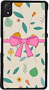 PrintVisa D7750 Girly Bow Case Cover for Sony Xperia Z2 (Multicolour)