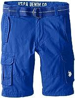 U.S. Polo Assn. Big Boys' Ripstop Six-Pocket Cargo Short with Belt