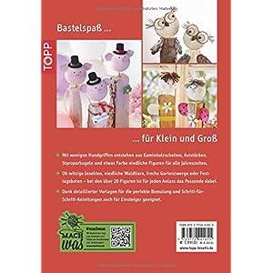 Fröhlich-bunte Kaminholz-Figuren: Dekorationen aus Kaminholz, Holzscheiten und Ästen (kreativ.komp