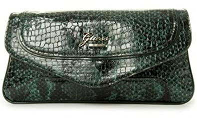 5beddeaf9f01 Where to buy Guess Electron Faux Python Embossed Clutch Bag Emerald  PG364326 Shoes