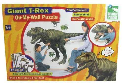 Giant 4' x 5' Vinyl T-Rex Wall Puzzle - 1