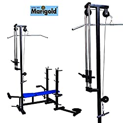 MARIGOLD 20 IN 1 BENCH 2*2 PIPE SIZE USE MULTI EXERCISE IN BLUE COLOUR
