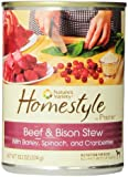 Nature's Variety Prairie Homestyle Beef & Bison Stew Canned Dog Food, 13.2 oz. (Case of 12)