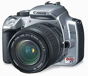 Canon Digital Rebel XT 8MP Digital SLR Camera with EF-S 18-55mm f3.5-5.6 Lens (Silver)